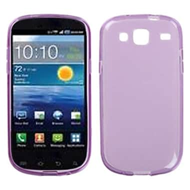 Insten® Candy Skin Case For Samsung I425 (Galaxy Stratosphere III), Semi Transparent Purple