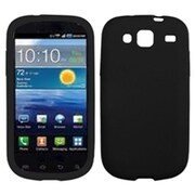 Insten® Solid Skin Cover For Samsung I425 (Galaxy Stratosphere III), Black