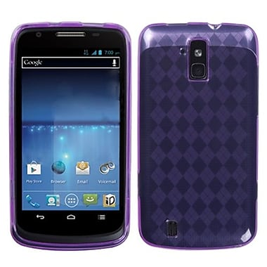 Insten® Argyle Candy Skin Cover For ZTE N9100 Force, Purple Pane