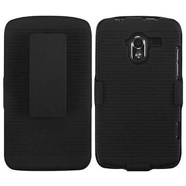 Insten® Hybrid Holster Case For ZTE-N9120 Avid 4G, Black