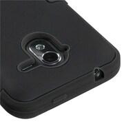 Insten® TUFF Hybrid Protector Cover For ZTE-N9120 Avid 4G, Black/Black