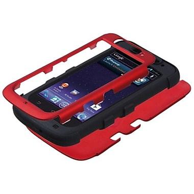 Insten® TUFF Hybrid Protector Cover For ZTE-N9120 Avid 4G, Titanium Red/Black