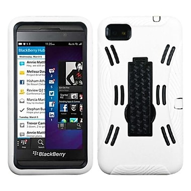 Insten® Symbiosis Stand Protector Cover For BlackBerry Z10, Black/White