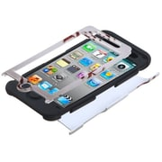 Insten® TUFF Hybrid Protector Cover For iPod Touch 4th Gen, Black Baseball