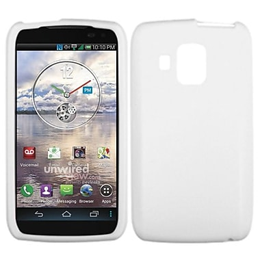 Insten® Skin Cover For Pantech ADR930LVW Perception, Solid Translucent White