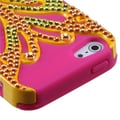 Insten® Butterflykiss Hybrid Phone Protector Covers F/iPhone 5/5S