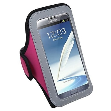 Insten® Vertical Pouch Universal Sport Armband For Samsung I717/T879/Galaxy Note II/T889, Hot-Pink