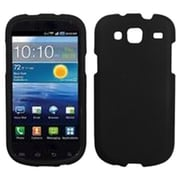 Insten® Rubberized Phone Protector Cover For Samsung I425 (Galaxy Stratosphere III), Black