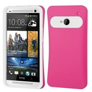 Insten® Card Wallet Back Protector Cover For HTC-One/M7, Hot-Pink/White