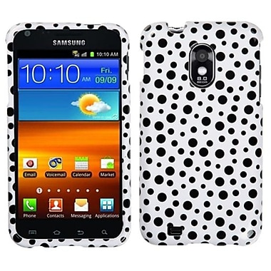 Insten® Phone Protector Cover For Samsung D710, R760, Galaxy S II 4G, Black Mixed Polka Dots