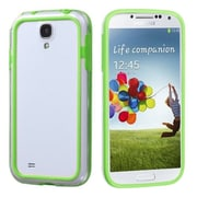 Insten® MyBumper Phone Protector Cover For Samsung Galaxy S4, Apple Green/Transparent Clear