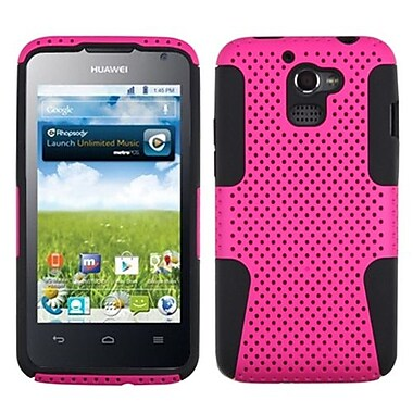 Insten® Astronoot Phone Protector Cover For Huawei M931 Premia 4G, Hot-Pink/Black