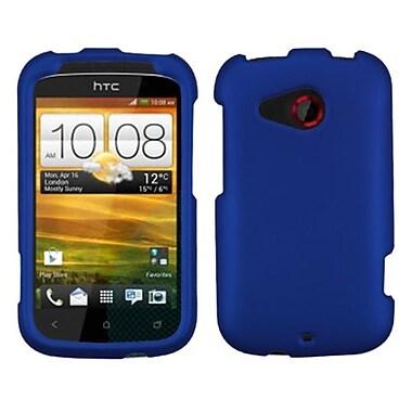 Insten® Protector Case For HTC Desire C, Titanium Solid Dark Blue