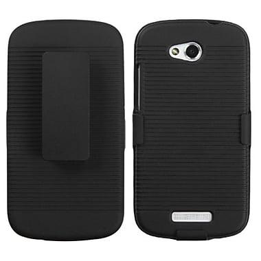 Insten® Hybrid Holster For HTC-One VX, Black