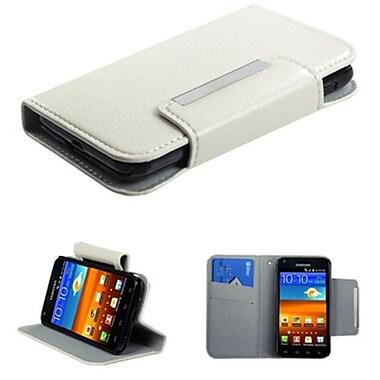 Insten® Premium Book-Style MyJacket Wallet For Samsung D710, R760, Galaxy S II 4G, White