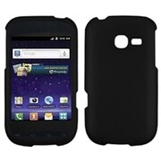 Insten® Rubberized Phone Protector Cover For Samsung R480 (Freeform 5), Black