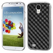 Insten® Executive Back Protector Cover For Samsung I337 Galaxy S4, Black Diagonal Plaid