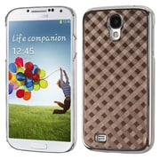 Insten® Executive Back Protector Cover For Samsung Galaxy S4, Brown Diagonal Plaid