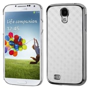 Insten® Executive Back Protector Cover For Samsung I337 Galaxy S4, White Diagonal Plaid