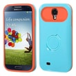 Insten® Back Protector Cover With Ring Stand For Samsung I337 Galaxy S4, Baby Blue/Orange