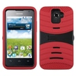 Insten® Symbiosis Protector Cover With Horizontal Stand For Huawei M931 Premia 4G, Black/Red Wave