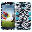 Insten® Hybrid Phone Protector Cover For Samsung Galaxy S4 i9500, Zebra Skin/Tropical Teal