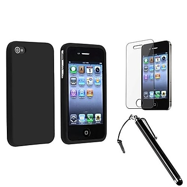 Insten® 1171268 3-Piece iPhone Case Bundle For Apple iPhone 4/4S