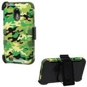 Insten® TUFF Hybrid Phone Protector Cover For Samsung D710, R760, Army Green/Green Woodland Camo