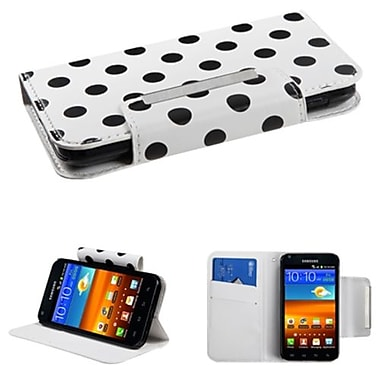 Insten® Book-Style MyJacket Wallet For Samsung D710, R760, Galaxy S II 4G, Black Polka Dots/White