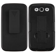 Insten® Rubberized Hybrid Holster With Stand For Samsung Galaxy SIII, Black