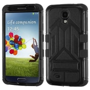 Insten® Hybrid Protector Case With Stand For Samsung Galaxy S4, Natural Black/Black