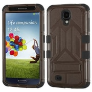 Insten® Hybrid Protector Case With Stand For Samsung Galaxy S4, Natural Brown/Black