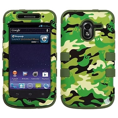 Insten® TUFF Hybrid Protector Cover For ZTE-N9120 Avid 4G, Green Woodland Camo/Army Green