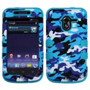 Insten® TUFF Hybrid Protector Cover For ZTE-N9120 Avid 4G, Aquatic Camouflage/Tropical Teal