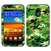 Insten® TUFF Hybrid Phone Protector Cover For Samsung D710, R760, Green Woodland Camo/Army Green