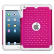 Insten® Luxurious Lattice Dazzling Protector Cover For iPad Mini 2, Hot-Pink/Solid White