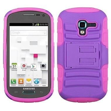 Insten® Advanced Armor Stand Protector Case For Samsung T599 Galaxy Exhibit, Purple/Electric Pink