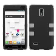 Insten® TUFF Hybrid Phone Protector Case For LG P769, Black/Grey