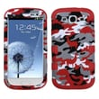 Insten® Hybrid Phone Protector Case For Samsung Galaxy SIII, Red Desert Camo/Red