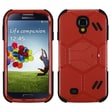 Insten® Hybrid Protector Cover For Samsung Galaxy S4, Natural Red/Black Beehive Barrier