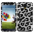 Insten® TUFF Hybrid Protector Cover For Samsung Galaxy S4, Black Leopard (2D Silver)