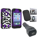 Insten® 1303306 3-Piece iPhone Car Charger Bundle For Apple iPhone 4/4S