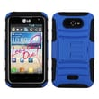 Insten® Advanced Armor Stand Protector Cover For LG MS770/LW770, Dark Blue/Black