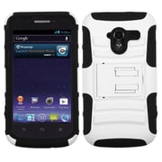 Insten® Advanced Armor Stand Protector Case For ZTE-N9120 Avid 4G, White/Black