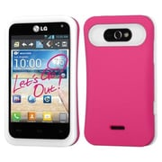 Insten® Back Protector Cover For LG MS770/LW770, Hot-Pink/White