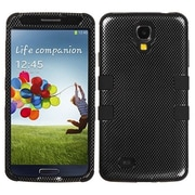 Insten® TUFF Hybrid Phone Protector Case For Samsung Galaxy S4, Carbon Fiber/Black