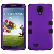 Insten® Rubberized TUFF Hybrid Phone Protector Case For Samsung Galaxy S4, Grape/Black