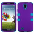 Insten® Rubberized TUFF Hybrid Phone Protector Case For Samsung Galaxy S4, Grape/Tropical Teal