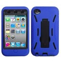 Insten® Symbiosis Stand Protector Cover For iPod Touch 4th Gen, Black/Blue