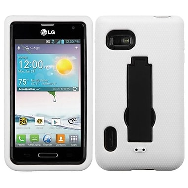 Insten® Symbiosis Stand Protector Case For LG MS659, Black/White